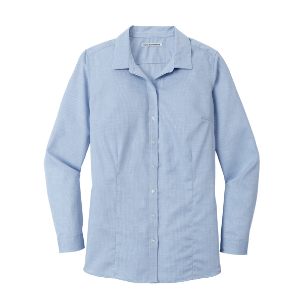 D2023W Ladies Pincheck Easy Care Shirt
