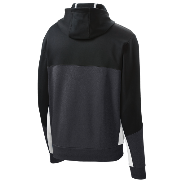 _D1550 Mens Fleece Colorblock Hooded Jacket*