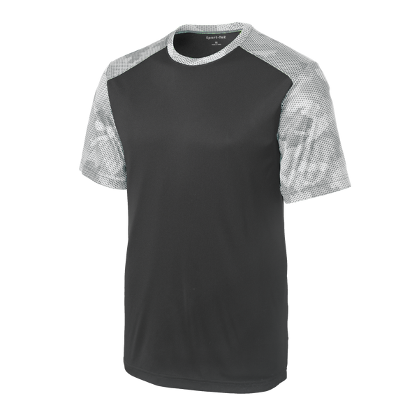 D1622M Mens CamoHex Colorblock Tee