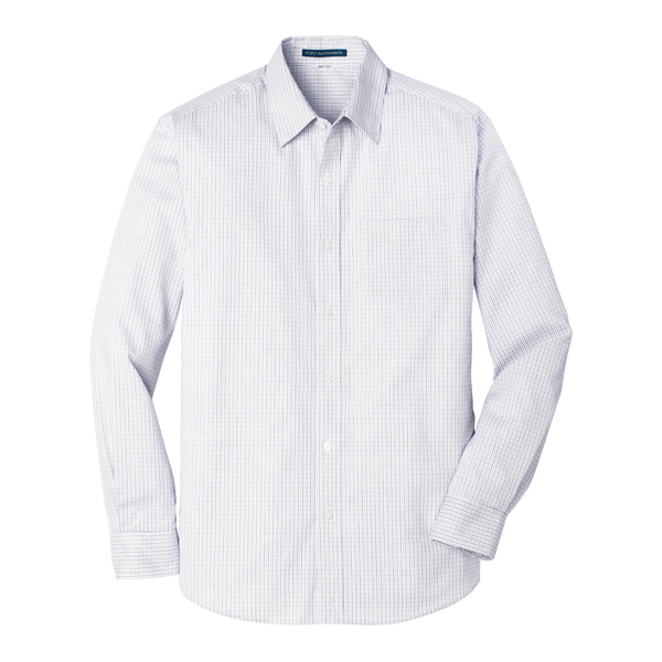 D1819M Mens Micro Tattersall Easy Care Shirt
