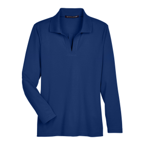 D2030W Ladies Plaited Long Sleeve Polo