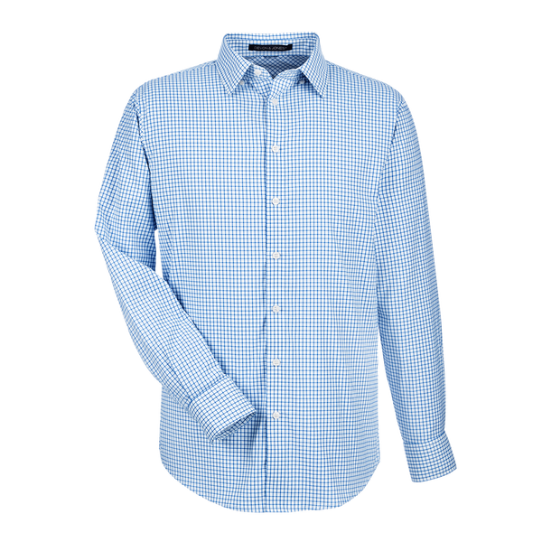 D1966M Mens CrownLux Performance Micro Windowpane Shirt