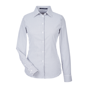D1966W Ladies CrownLux Performance Micro Windowpane Shirt
