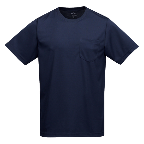 D1718 Mens Vital Short Sleeve Crew Neck Pocket Tee