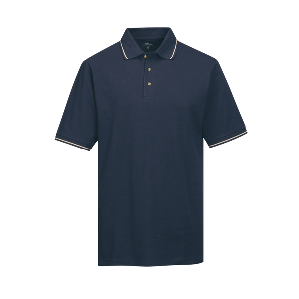 _D1969M Mens Trace Easy Care Trimmed Polo*