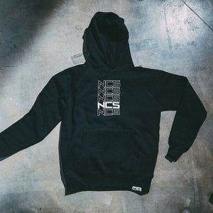 Classic Repeated Hoodie - Black