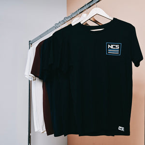 Square Pocket Tee - Blue