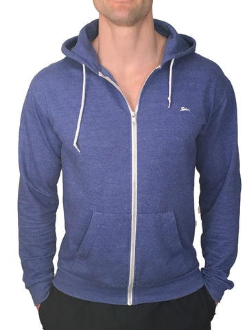 Mens Zipped Hoodie Royal Blue