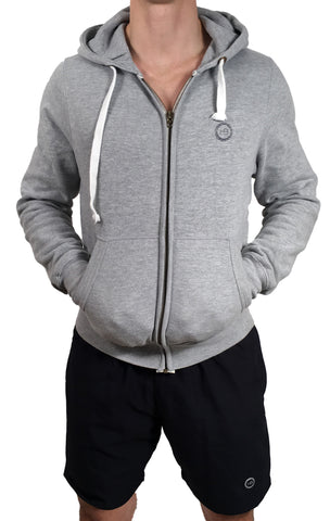 Unisex Thick Zipped Hoodie Grey