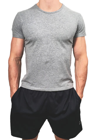 Mens Stretch T-Shirt Grey