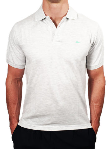 Mens Heavyweight Polo Light Grey