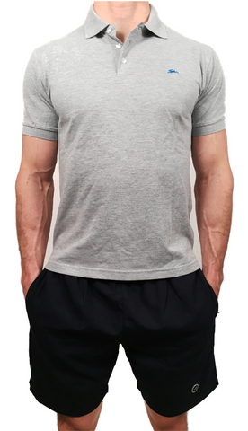 Mens Heavyweight Polo Ash Grey