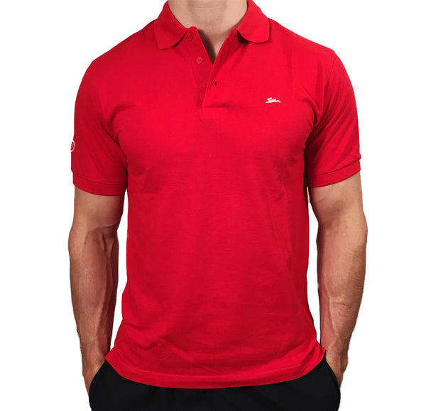 Mens Heavyweight Polo Red
