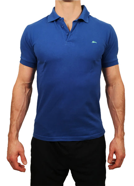 Mens Heavyweight Polo Blue