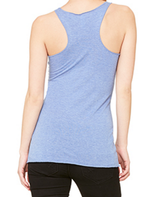Ladies Racerback Vest Blue