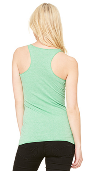 Ladies Racerback Vest Green