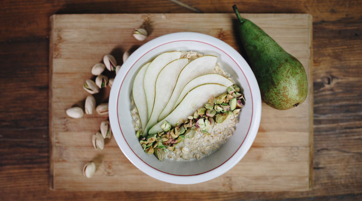 Pear and Pistachio Porridge