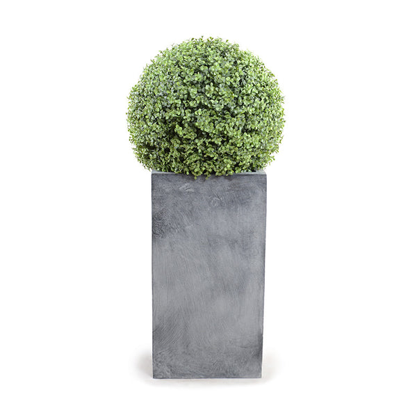 "22"" Boxwood Ball On Column - New Growth Designs"