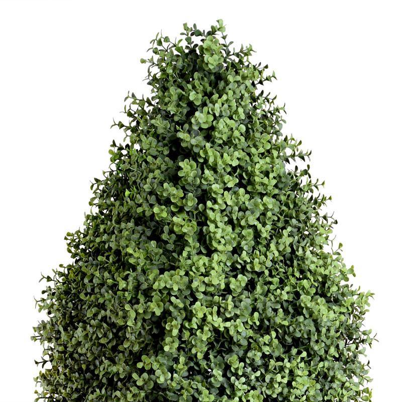 Boxwood Obelisk in Fiberglass Pot - New Growth Designs