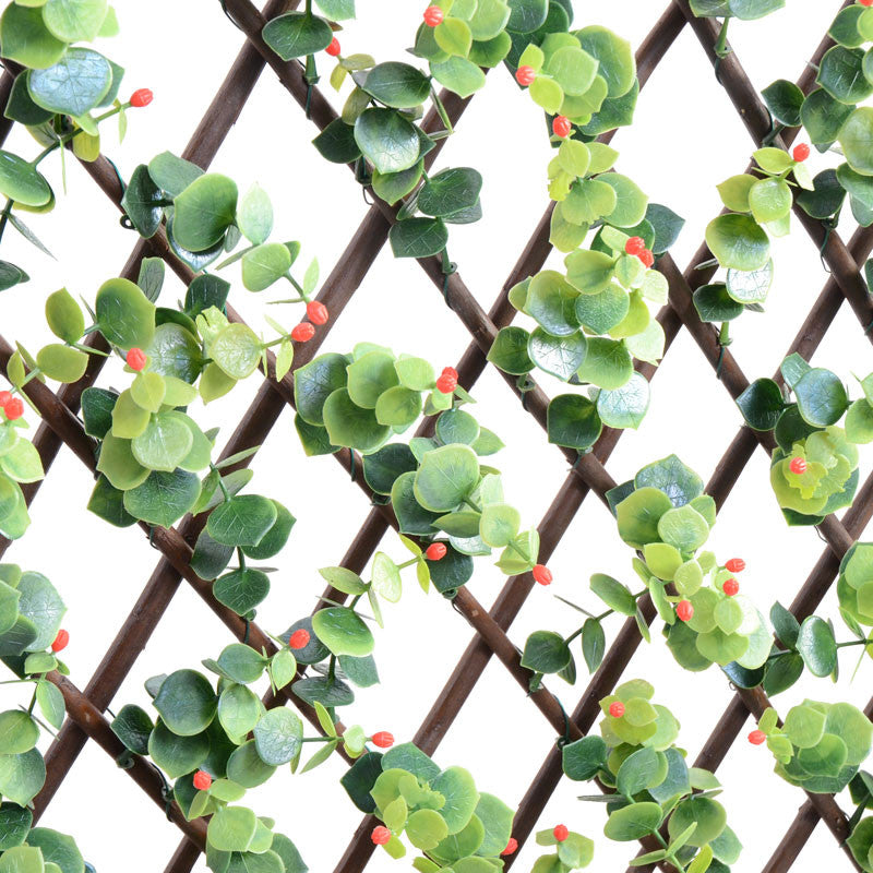 Expanding Lattice Screen, Ilex Red Berry - New Growth Designs