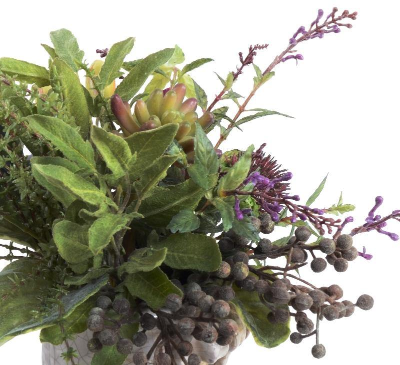 Mixed Herbs Bouquet in Clay Pot