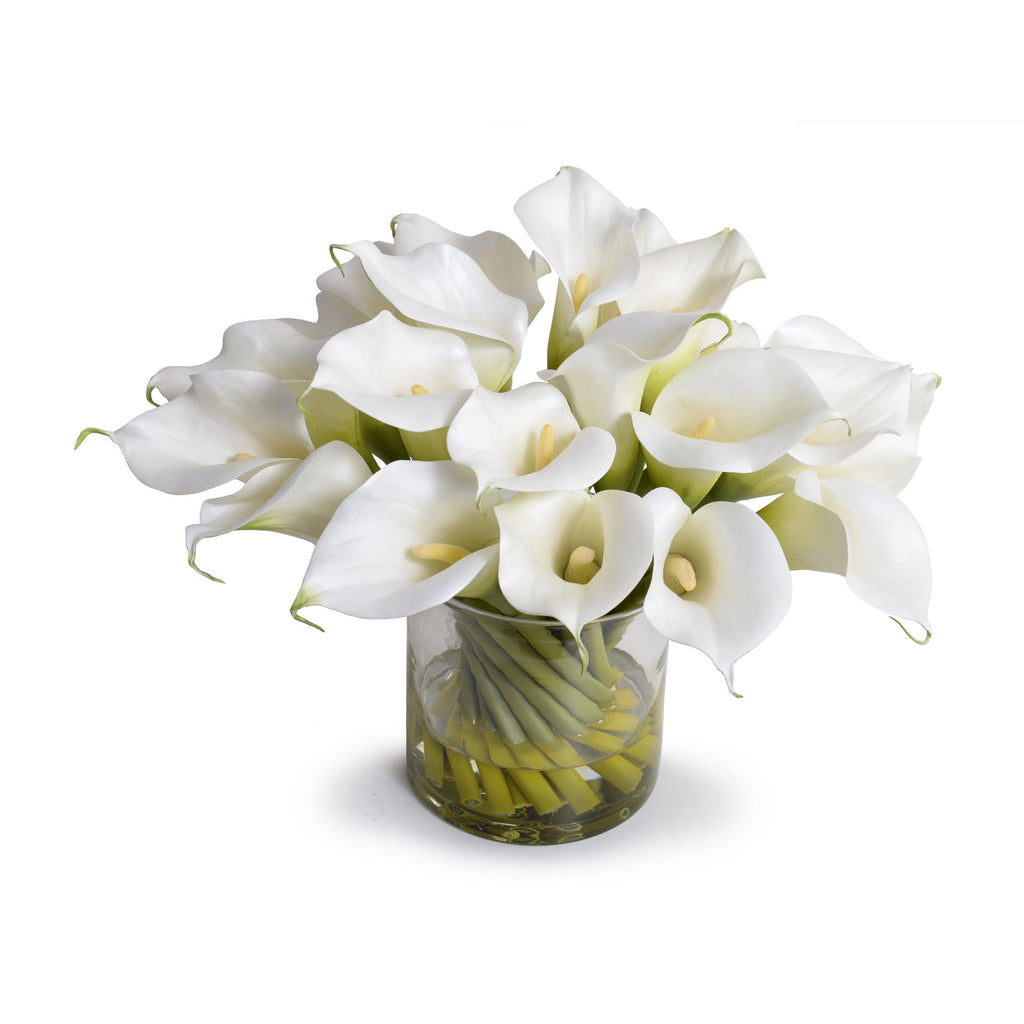 Calla Lily Arrangement in Glass - White - New Growth Designs