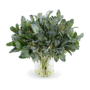 Lamb's Ear, Protea, Euphorbia Bouquet