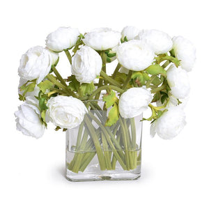 Ranunculus Bouquet in Glass Envelope - White
