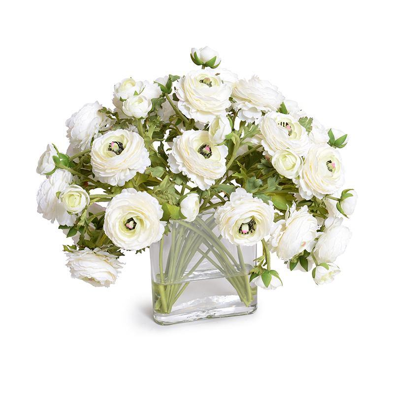 Ranunculus Bouquet in Glass Envelope - Cream