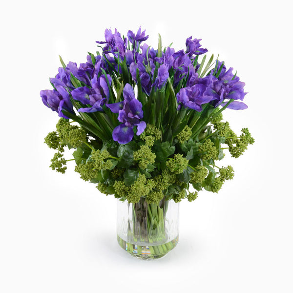 Iris, Viburnum Arrangement - New Growth Designs