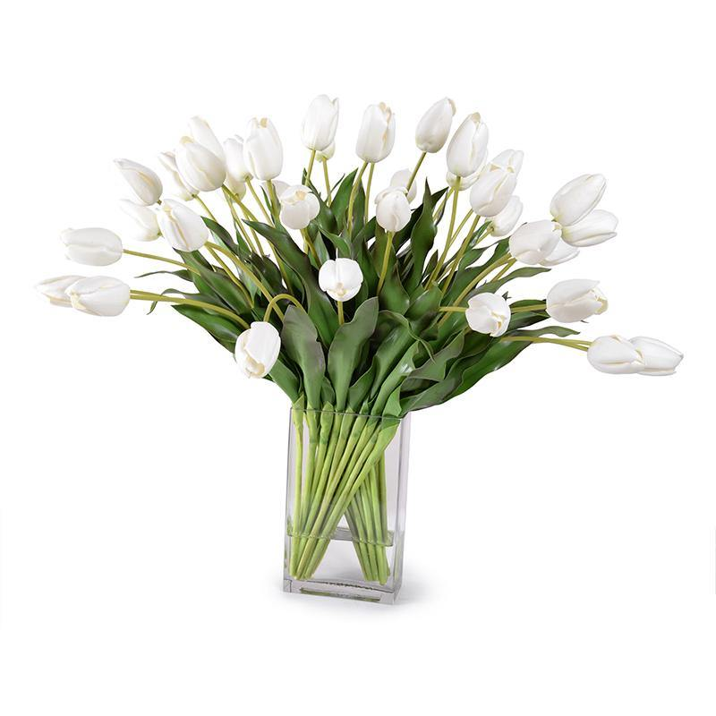 Tulip Arrangement - White - New Growth Designs