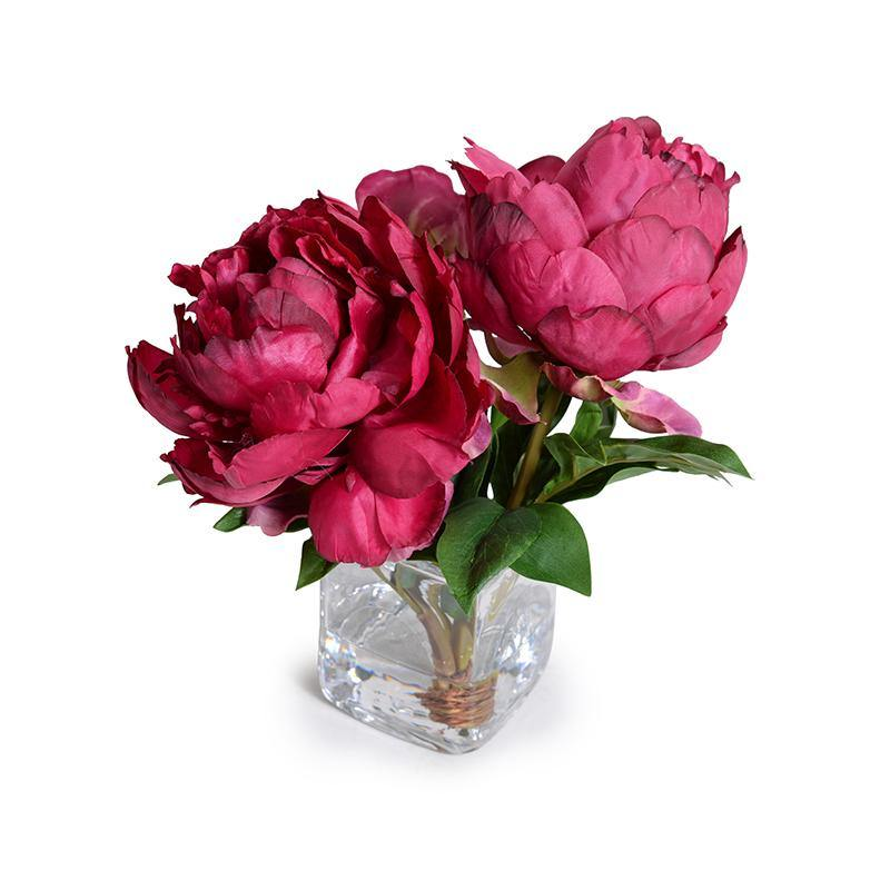 Peony Cutting in Glass - Fuchsia