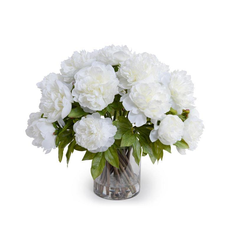 Peony Bouquet - White - New Growth Designs