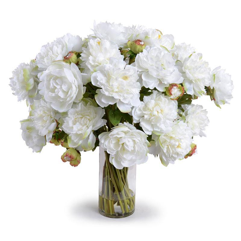 Large Peony Bouquet - White - New Growth Designs