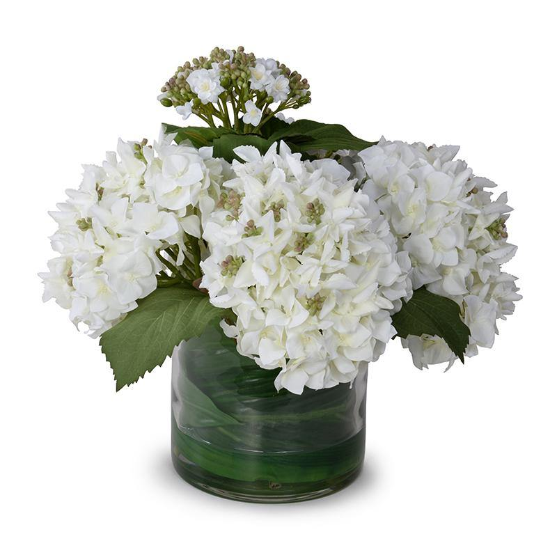 Hydrangea Bud Arrangement - Green-White - New Growth Designs