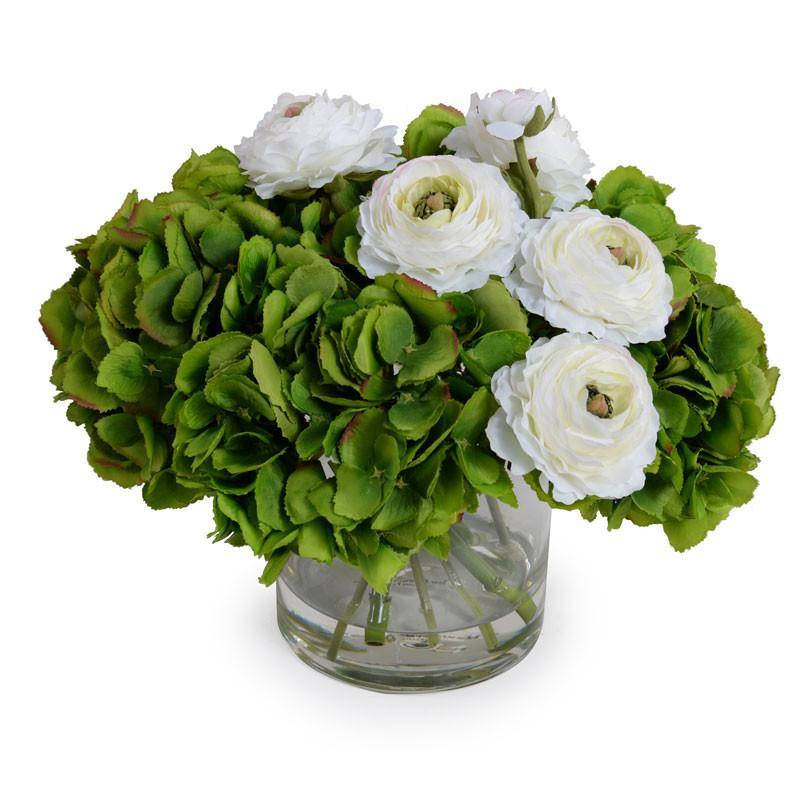 Hydrangea, Ranunculus Bouquet - New Growth Designs