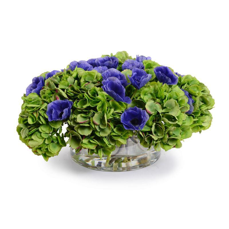 Hydrangea, Anemone Arrangement - New Growth Designs