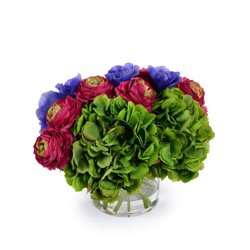 Hydrangea, Anemone, Ranunculus Bouquet - New Growth Designs
