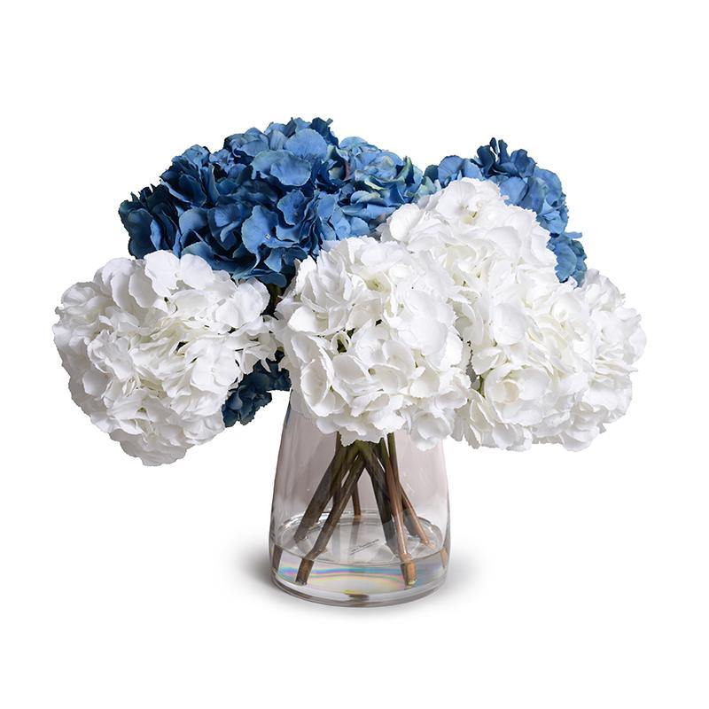 Hydrangea Arrangement - Blue-White - New Growth Designs