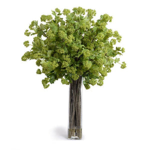 Viburnum Arrangement in Tall Glass - Green