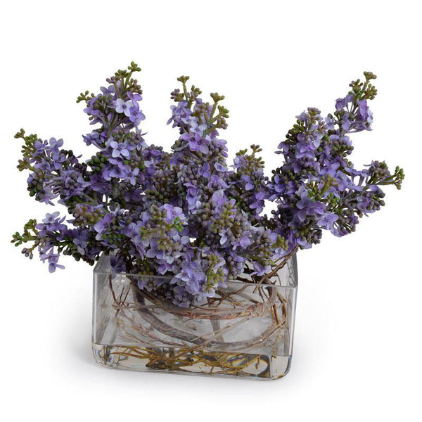 Faux Fresh Lilac Spray Vase