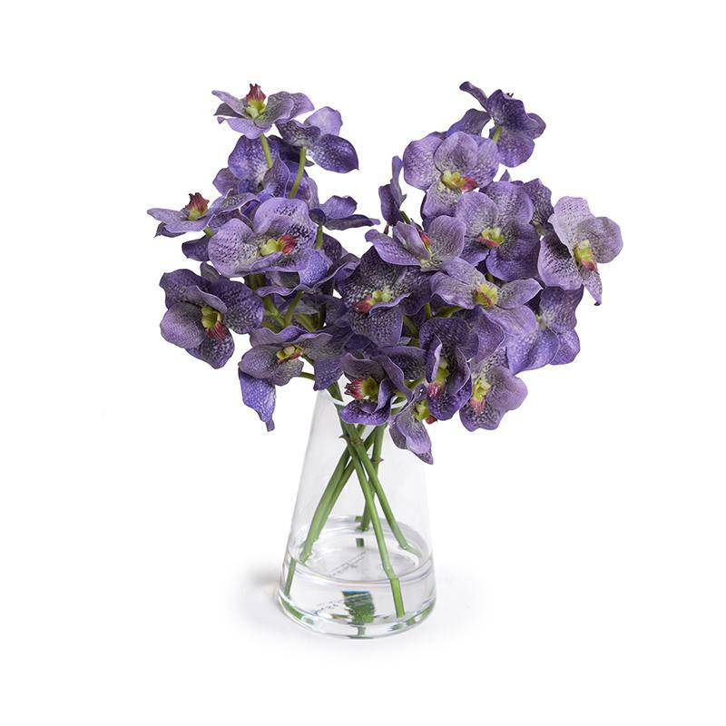 Vanda Orchids in Glass - Purple