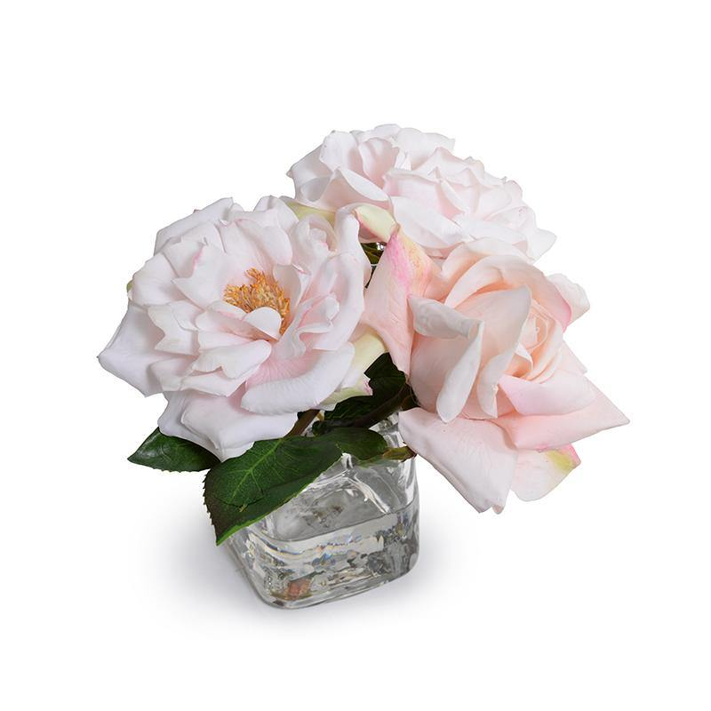 Rose Cutting in Glass - Light Pink - New Growth Designs