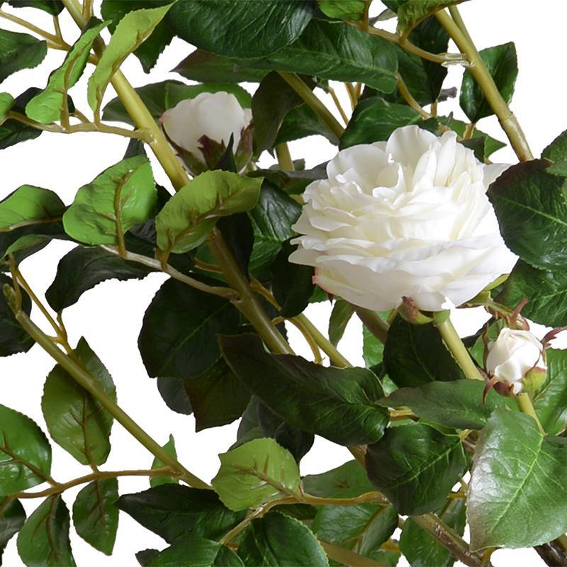 "Rose Tree Topiary With White Flowers 56"" - New Growth Designs"