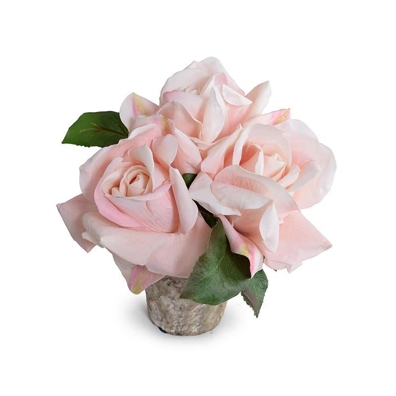 Rose Natural Touch in Clay Pot - Pink - New Growth Designs