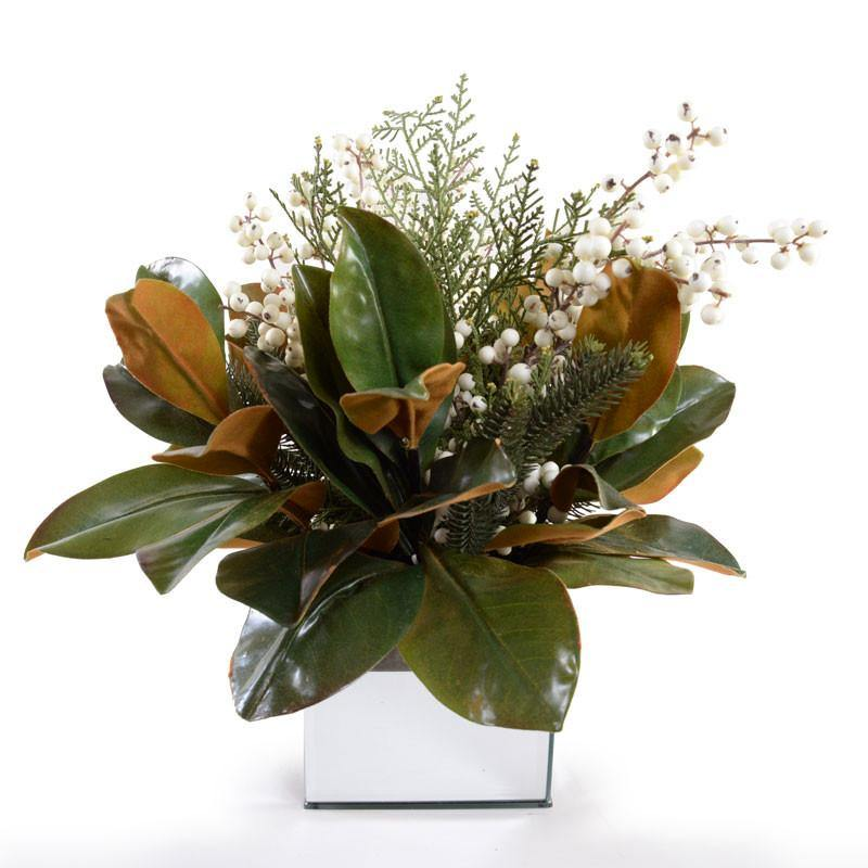 Magnolia, Cedar, Tallow Berry Arrangement