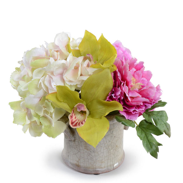 Hydrangea, Peony, Orchid Bouquet
