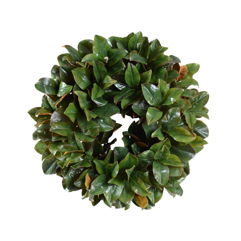 "28"" Magnolia Leaf Wreath - New Growth Designs"