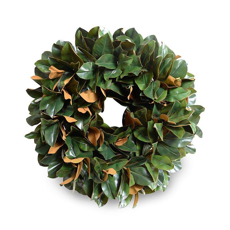 "28"" Magnolia Leaf Hand-built Wreath"