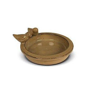 Terracotta Glazed Bird Bath